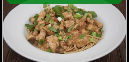 Quick and Easy Pork with Peanut  Noodles