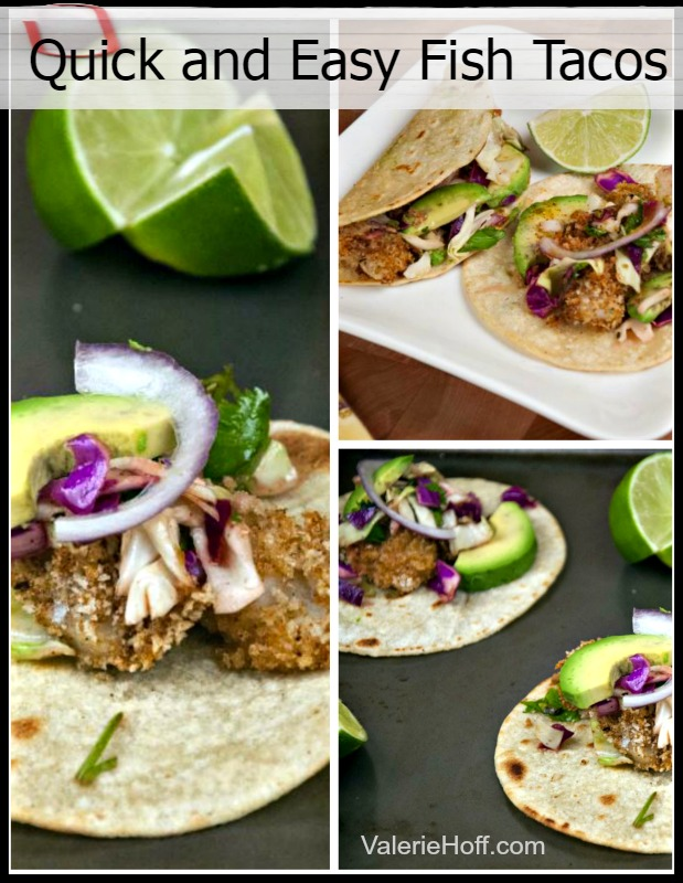 Fish tacos with honey lime slaw valerie hoff for Easy slaw for fish tacos