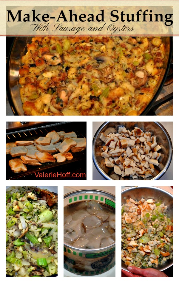 Make Ahead Bread Stuffing with Sausage and Oysters