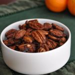 Holiday Spiced Pecans with a Hint of Orange