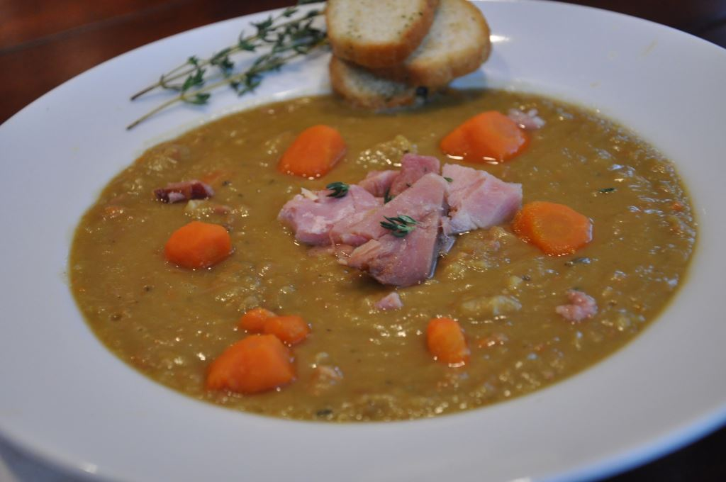 Slow Cooker Split Pea Soup with Ham -Valerie Hoff