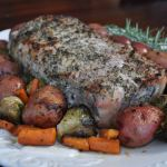 Herb Crusted Pork Loin with Roasted Vegetables