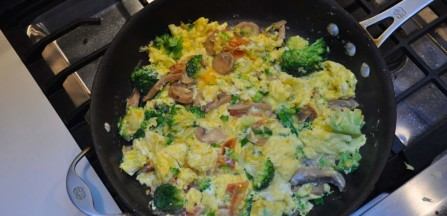 Super Easy Veggie Scramble
