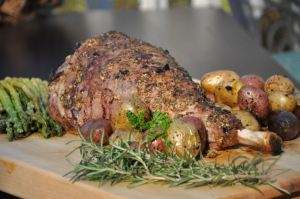 Dijon Garlic Leg of Lamb