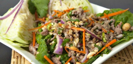 Nam Sod - Thai Pork Salad made with Ground Pork