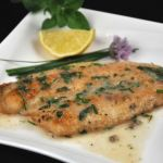 Flounder with Lemon Herb Sauce
