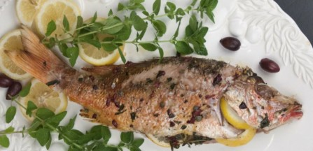 Mediterranean Whole Roasted Red Snapper
